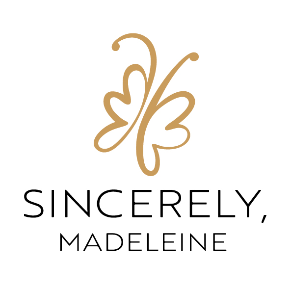 Sincerely, Madeleine Logotyp